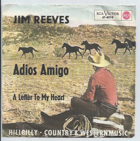 "JIM REEVES ""Adios Amigo"" (A)"